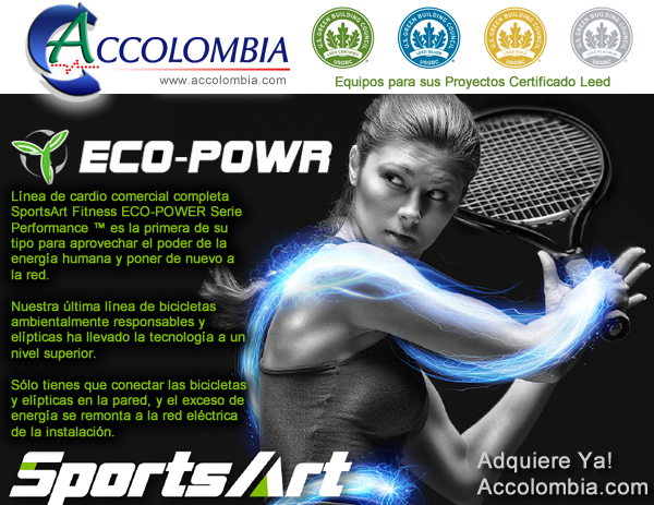 SportsArt Fitness ECO-POWR Serie Performance Certificado Leed Accolombia Eco-Power