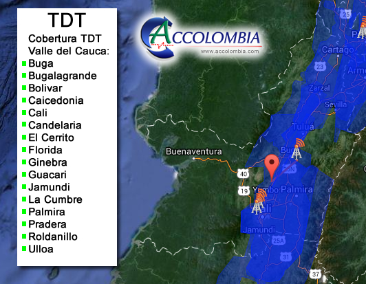mapa-valledelcauca tdt accolombia DVB-T2 decodificador